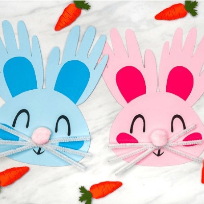 hand print bunny craft