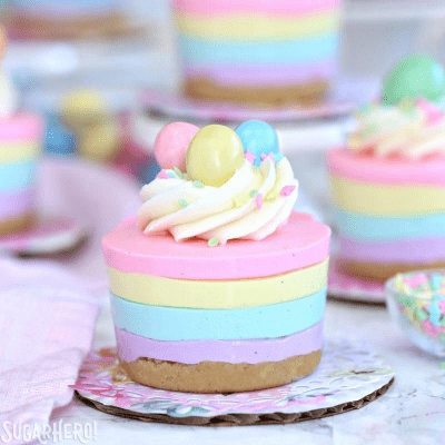 Easter no bake miniature cheesecake