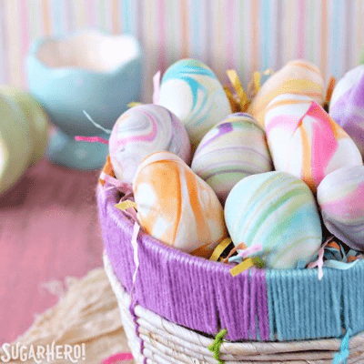 marbled Easter Egg Truffles