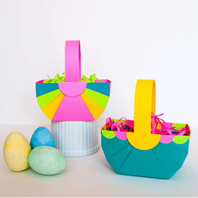 DIY Easter basket template