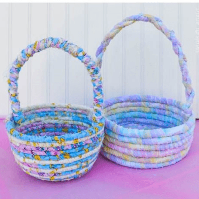 No Sew Fabric Easter Basket tutorial