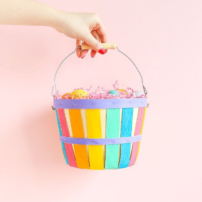 DIY painted Easter basket