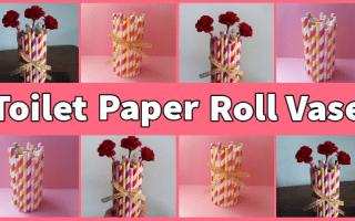 Easy DIY Toilet Paper Roll Vase Tutorial