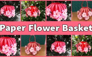 Easy DIY Paper Flower Basket Tutorial