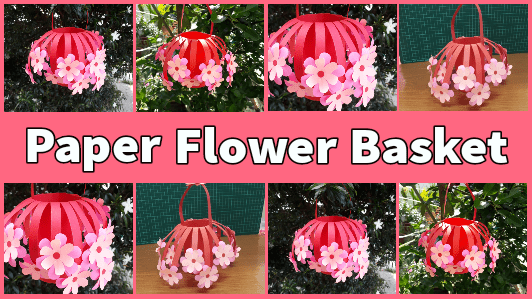 Easy DIY Paper Flower Basket Tutorial