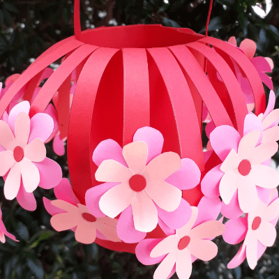 Paper Flower Basket Handmade Craft
