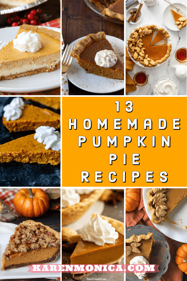 13 Homemade Pumpkin Pie Recipes